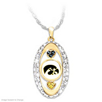 For The Love Of The Game Iowa Hawkeyes Pendant Necklace