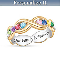 Love Never Ends Personalized Ring