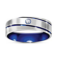 Blue Horizon Diamond Ring