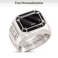 My Grandson, My Pride, My Joy Personalized Ring