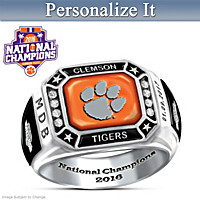 Clemson Tigers 2016 National Champions Personalized Ring