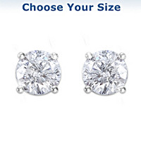 Brilliant Elegance Diamond Stud Earrings