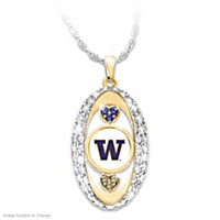 For The Love Of The Game Washington Huskies Pendant Necklace