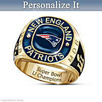 Patriots Super Bowl LI Champions Personalized Ring