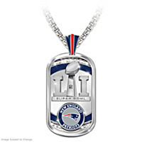 Patriots Super Bowl LI Champions Dog Tag Pendant Necklace