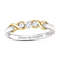 Forever My Daughter Diamond Ring