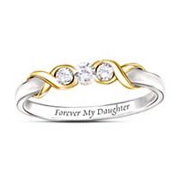 Forever My Daughter Diamond Ring