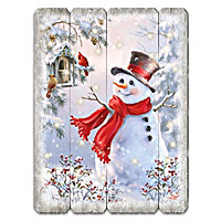 Bright Smiles And Snowflakes Wall Decor