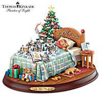 Thomas Kinkade Dreaming Of Santa Sculpture