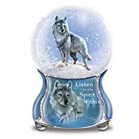 Silver Scout Glitter Globe