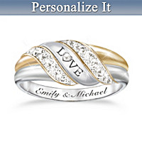 Our Love's Embrace Personalized Diamond Ring