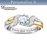 Embraced By Love Personalized Ring