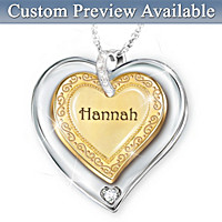 A Granddaughter Is Forever Personalized Pendant Necklace
