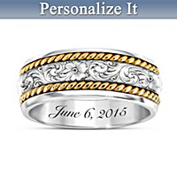 Western Romance Personalized Wedding Ring