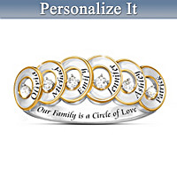 Love Surrounds Me Personalized Diamond Ring