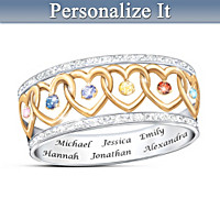 Family Love Personalized Ring
