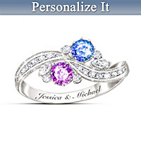 Meant To Be Together Personalized Ring