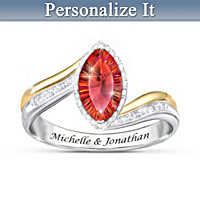 Passion Of Love Personalized Ring