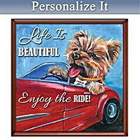 Enjoy The Ride Personalized Yorkie Canvas Wall Decor