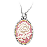 American Rose Pendant Necklace