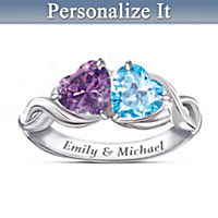 Heart To Heart Personalized Ring