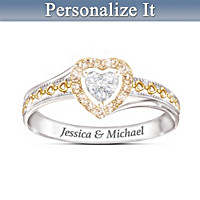 Celebrate Our Love Personalized Diamond Ring