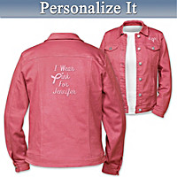 I Wear Pink Personalized Women's Jacket