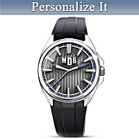 Strength Of My Grandson Personalized Men's Watch