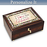 Daughter I Love You With All My Heart Personalized Music Box