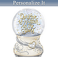 Our Love Is Written In The Stars Personalized Glitter Globe
