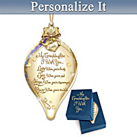 Wishes For My Granddaughter Personalized Ornament