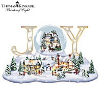 Thomas Kinkade Holiday Joy Snowglobe