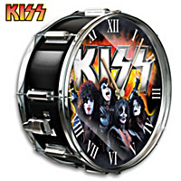 KISS Showtime Drum Wall Clock