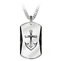 Anchored In Faith Pendant Necklace