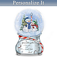 North Pole And Back Personalized Snowglobe