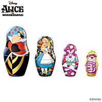 Disney Alice In Wonderland Nesting Doll Set