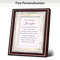 Granddaughter, I Love You Personalized Frame