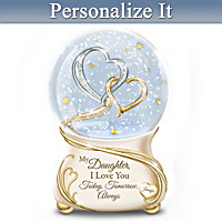 My Daughter, I Love You Always Personalized Glitter Globe