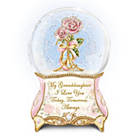Granddaughter, I Love You Always Glitter Globe