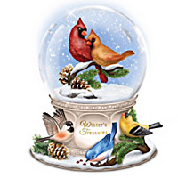 Winter's Treasures Glitter Globe