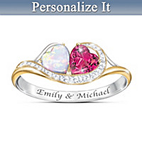 You & Me Forever Personalized Ring
