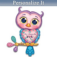 Owl Always Love You Personalized Wall Clock