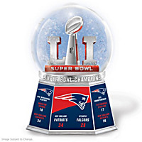 Super Bowl LI Champions Patriots Commemorative Glitter Globe