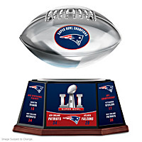 Patriots Super Bowl LI Championship Football Sculpture