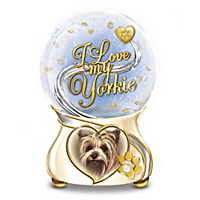 I Love My Yorkie Glitter Globe