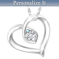 My Joy Personalized Diamond Pendant Necklace