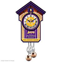 Los Angeles Lakers Cuckoo Clock