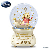 Granddaughter, You're Showered With Love Glitter Globe