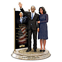 Barack And Michelle Obama Farewell Commemorative Sculpture