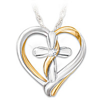 Trust In The Lord Diamond Pendant Necklace